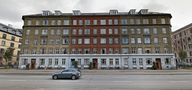 Facaden på en Andelsboligforeningen Aaen