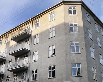 Altaner og facade på Andelsforening Hellebækgaard