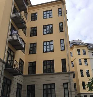 Gårdfacaden på AB Danashus