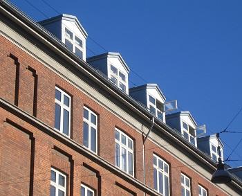 Tagervinduerne på Andelsforening Kronborggade 10-12